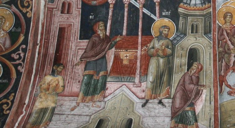 Sunday On the Publican and the Pharisee, fresco, Serbia