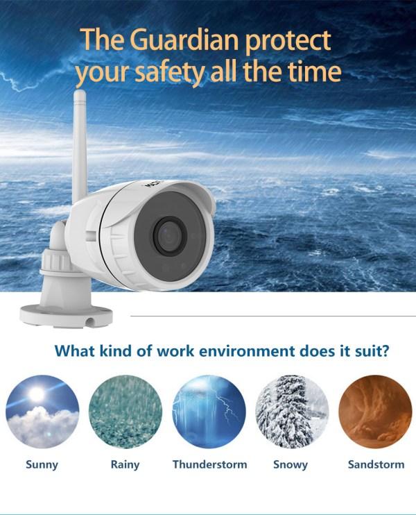 Mini Bullet Camera 1080P Outdoor Wireless Wifi Security IP Camera 7