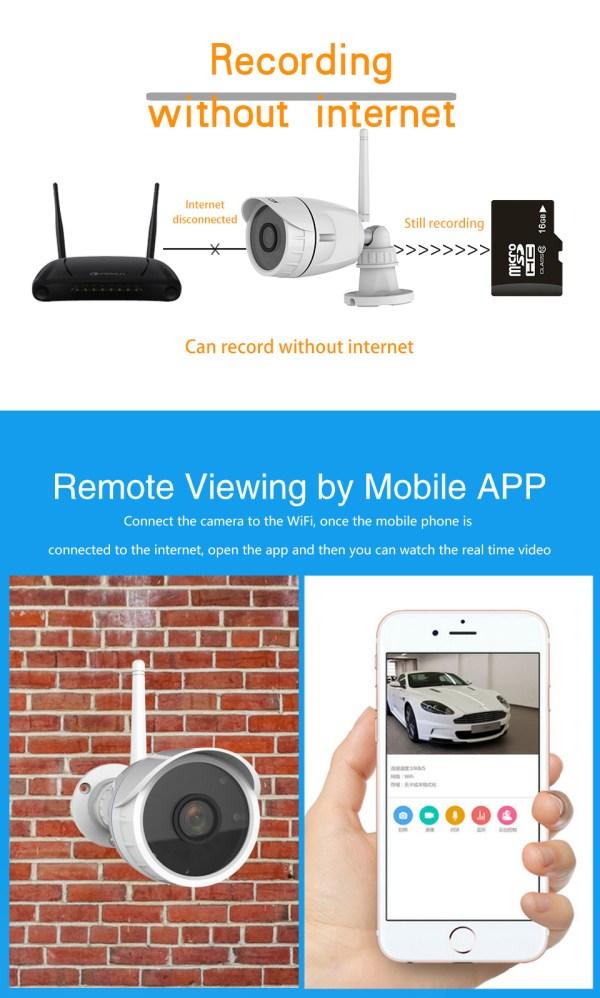 Mini Bullet Camera 1080P Outdoor Wireless Wifi Security IP Camera 10