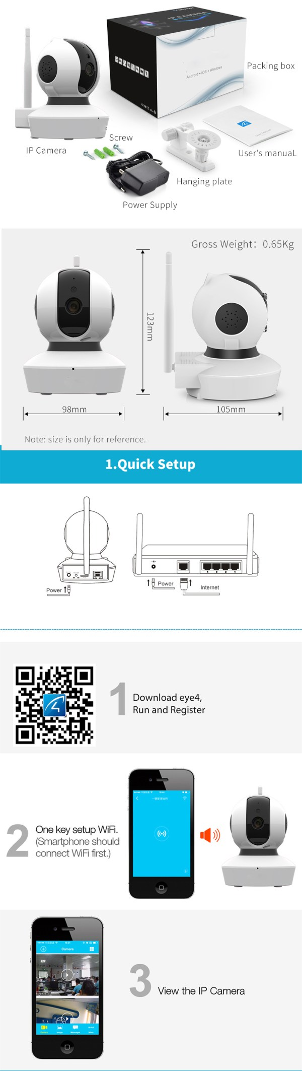 Wireless Home Security Camera Pan Tilt Full HD 1080P Mini Dome Day Night Camera 10