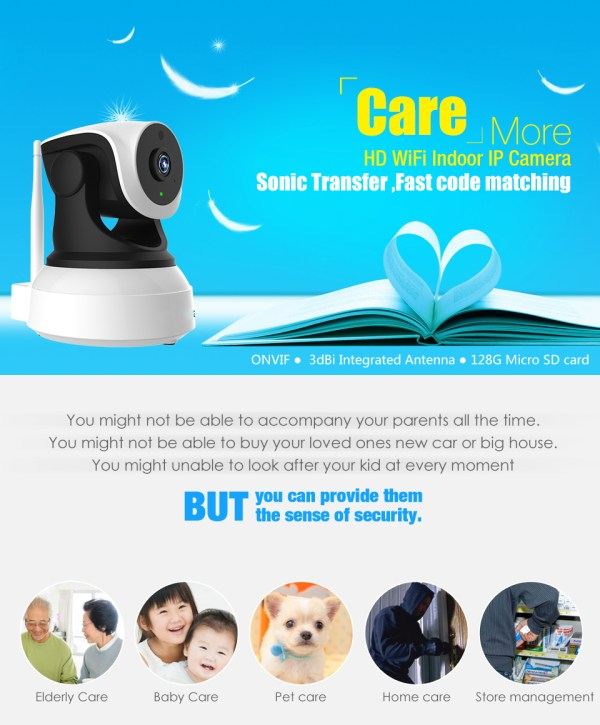 Audio Camera with Two way Audio IR Day Night Indoor Wifi Mini IP Camera Home Security Network Camera 2