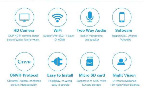 Audio Camera with Two way Audio IR Day Night Indoor Wifi Mini IP Camera Home Security Network Camera 4