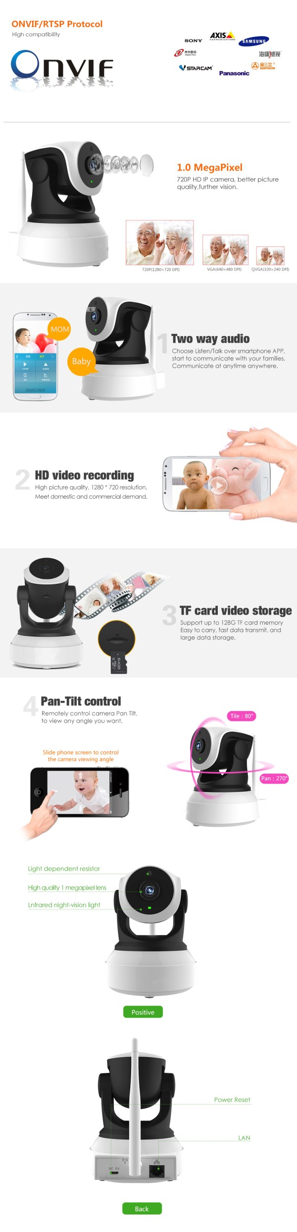Audio Camera with Two way Audio IR Day Night Indoor Wifi Mini IP Camera Home Security Network Camera 6