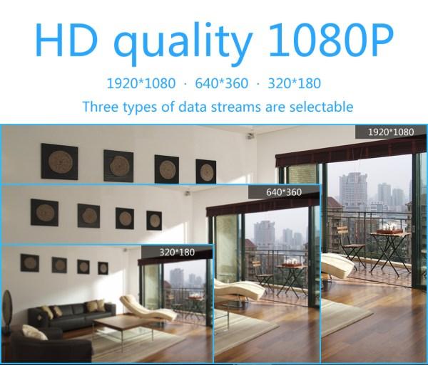 1080P CCTV Camera Day Night Mini Wifi Indoor Baby Monitor In Black 10