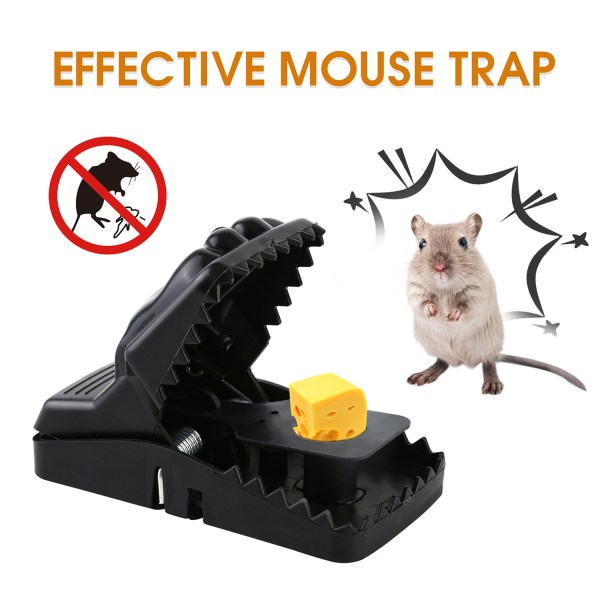 Mouse Trap, Snap Rat Trap That Work Outdoor or Indoor Powerful Sensitive Effective Killer Catcher 6 Pack 3
