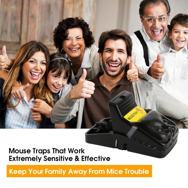 Mouse Trap, Snap Rat Trap That Work Outdoor or Indoor Powerful Sensitive Effective Killer Catcher 6 Pack 6