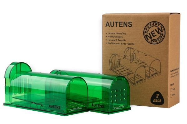 Humane Mouse Trap, Live Catch and Release, No Kill, Best for Small Rats, Mice, Hamsters, Mole - 2 Pack Green 8