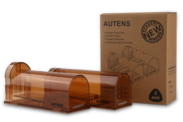 Humane Mouse Trap, Live Catch and Release, No Kill, Best for Small Rats, Mice, Hamsters, Mole - 2 Pack Brown 8