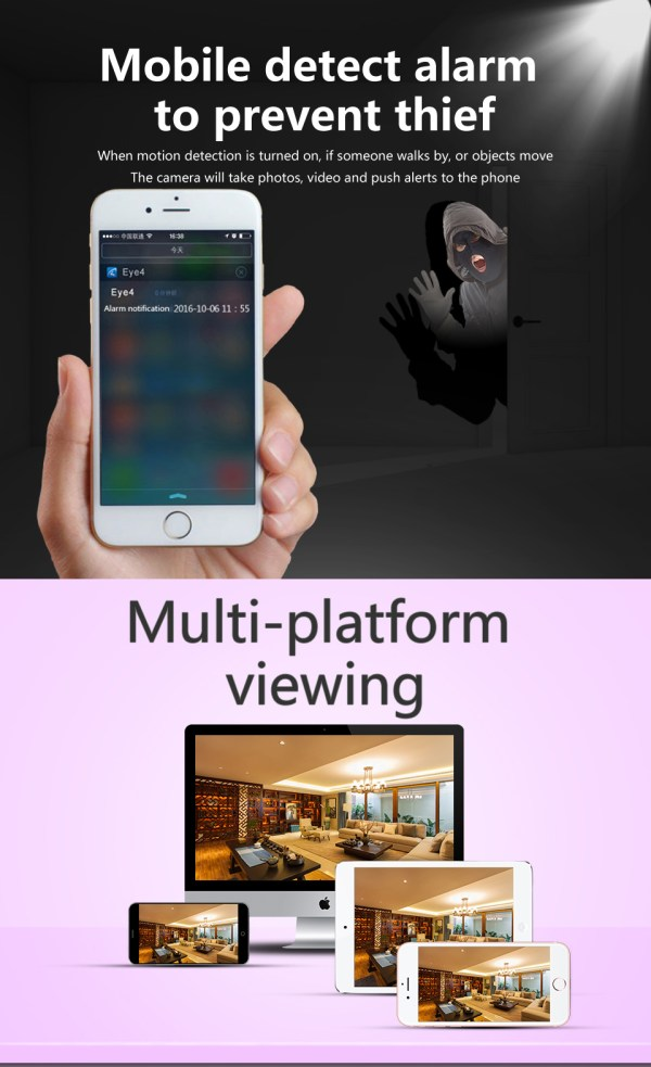 1080P Network Camera Two way Audio Motion Detection Pan Tilt Full HD Security Home Camera 8