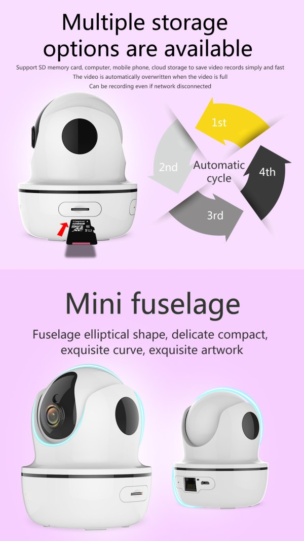 1080P Network Camera Two way Audio Motion Detection Pan Tilt Full HD Security Home Camera 9