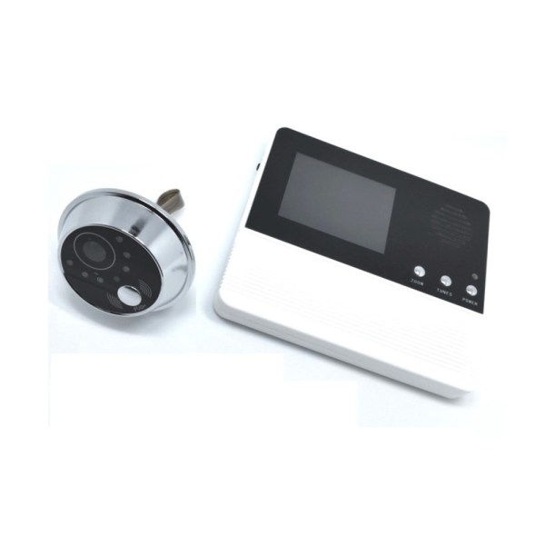 Peephole Intercom 2.8'' Digital Door Viewer with 90 degree for Door Thickness 35mm-75mm Peephole Rang 14mm 2