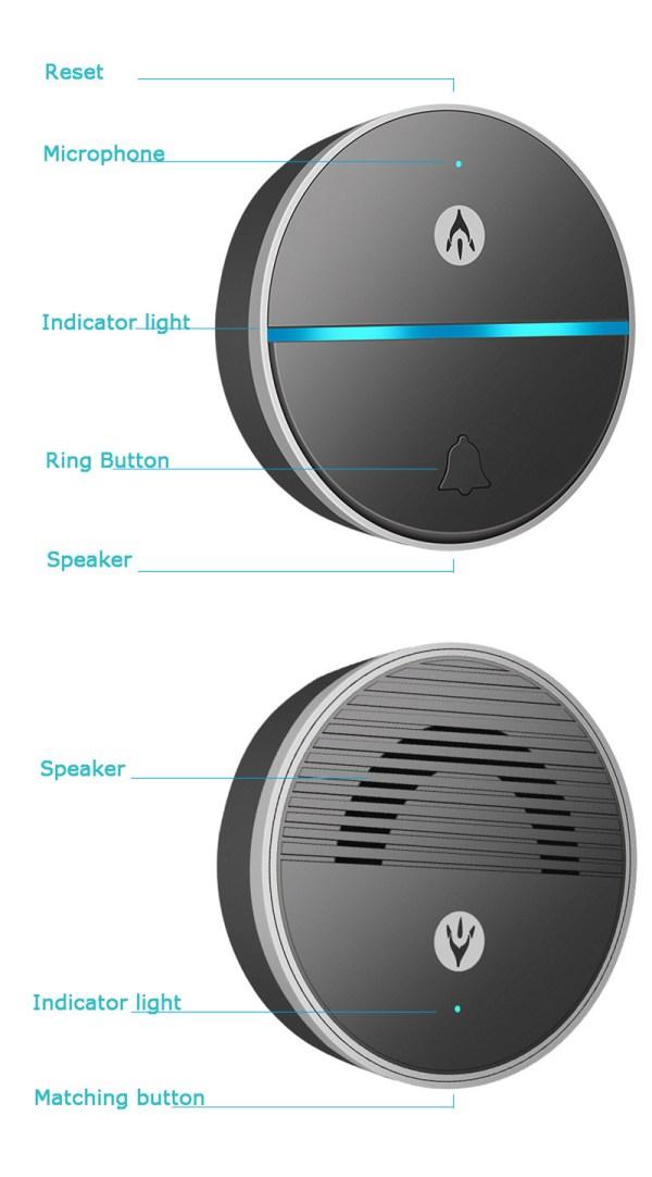 Wireless Doorbell Intercom Support Remote Receiving Group Chatting Update online Door phone Intercom 3