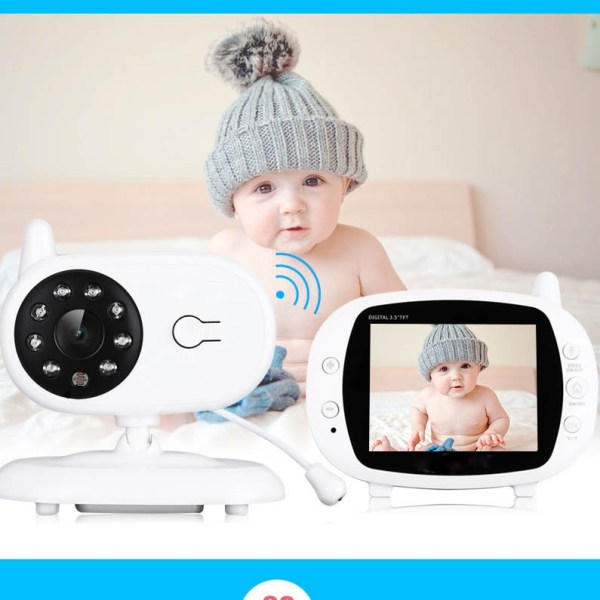 3.5inch Wireless Baby Monitor Support Temperature Detect Two Way Audio Video Intercom with Lullabies Baby Camera 7