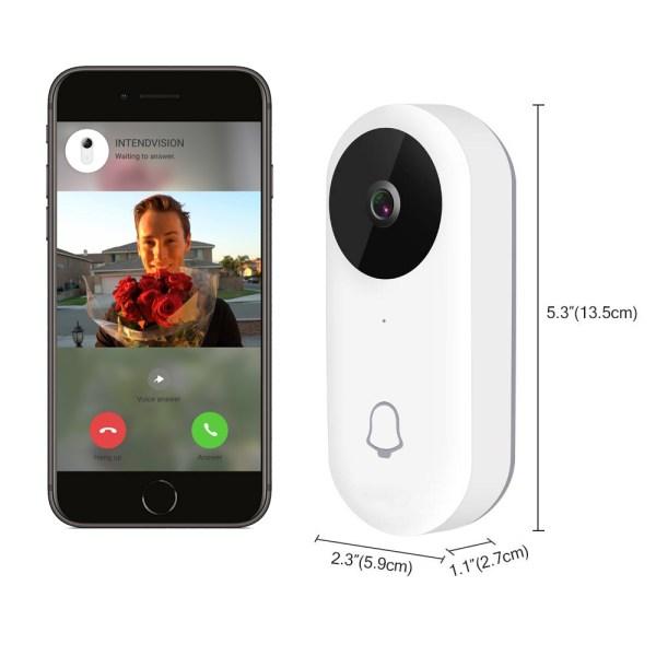 Video Doorbell Waterproof Wifi Wireless Video Intercom System with Indoor Chime Door Phone Camera 7