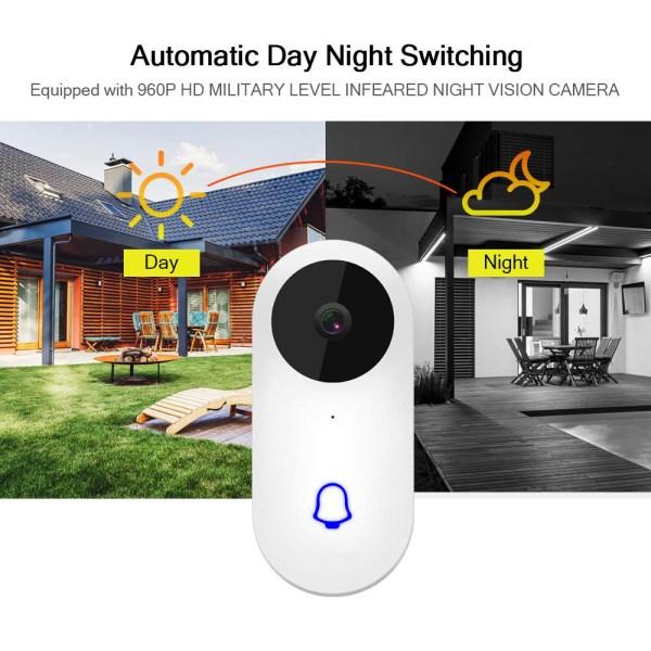 Video Doorbell Waterproof Wifi Wireless Video Intercom System with Indoor Chime Door Phone Camera 8