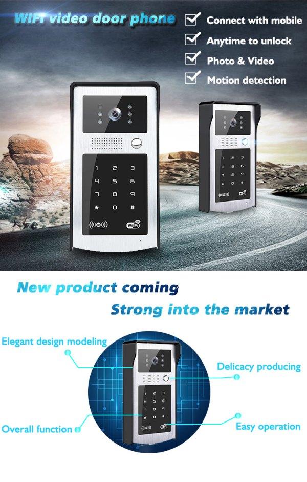 Wifi Door Phone Intercom Video Entrance Machine iOS Android support Remote Unlock 720P Doorbell Camera 4