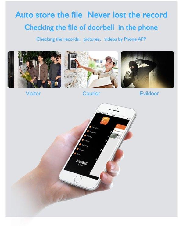 Wifi Door Phone Intercom Video Entrance Machine iOS Android support Remote Unlock 720P Doorbell Camera 5