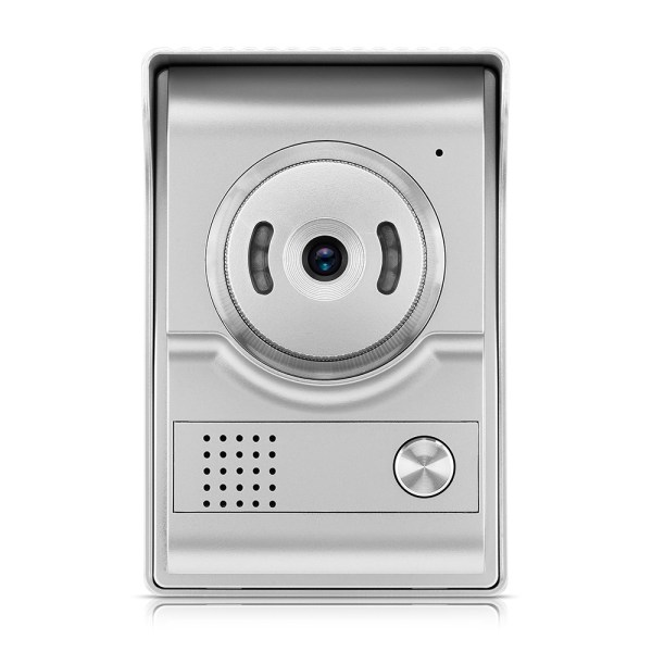 Video Intercom System 7'' Monitor Door phone Camera with 25 Ring Bell Elegant Design for Home Security 7