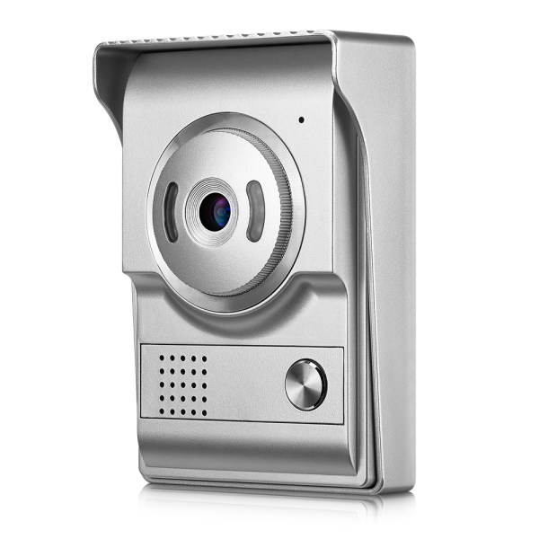Video Intercom System 7'' Monitor Door phone Camera with 25 Ring Bell Elegant Design for Home Security 6