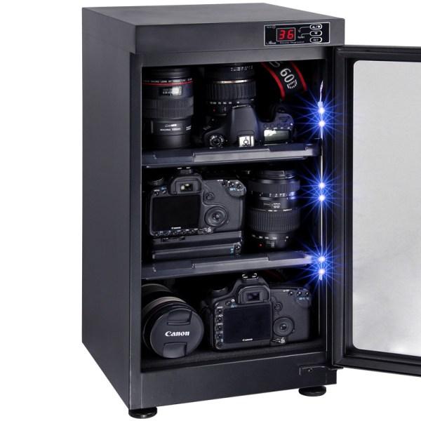 AUTENS 48L Digital Control Dehumidify Dry Cabinet Box DSLR Lens Camera Equipment Storage 4
