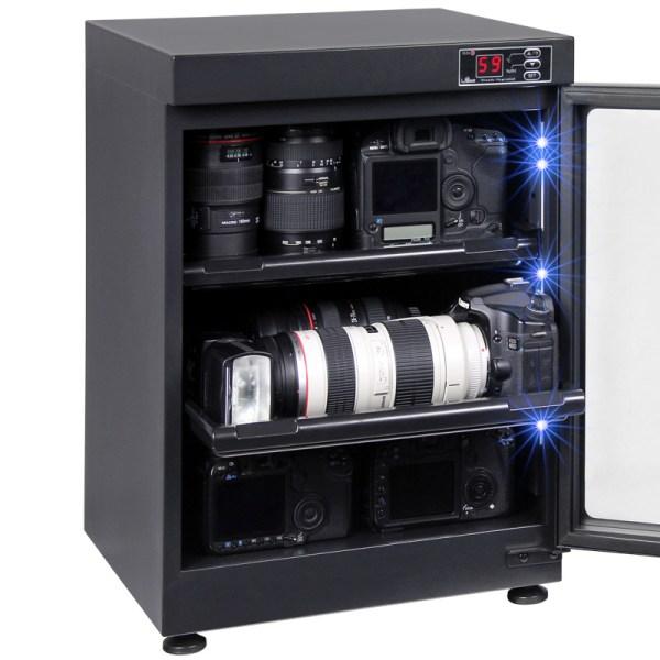 AUTENS 68L Digital Control Dehumidify Dry Cabinet Box DSLR Lens Camera Equipment Storage 2