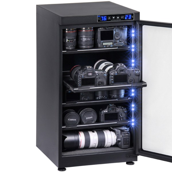 AUTENS 102L Touch Screen Camera Dehumidifying Dry Cabinet Storage Box for DSLR Camera Lens 4