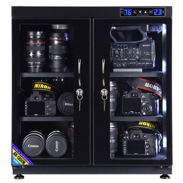AUTENS 135L Touch Screen Camera Dehumidifying Dry Cabinet Storage Box for DSLR Camera Lens 2