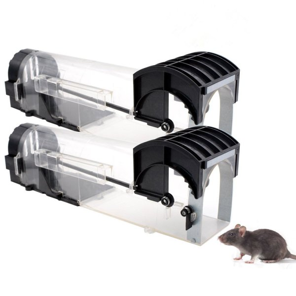 Humane Mouse Trap 2 Pack, Live Catch and Release, No Kill, Best for Small Rats, Mice, Hamsters, Mole 1