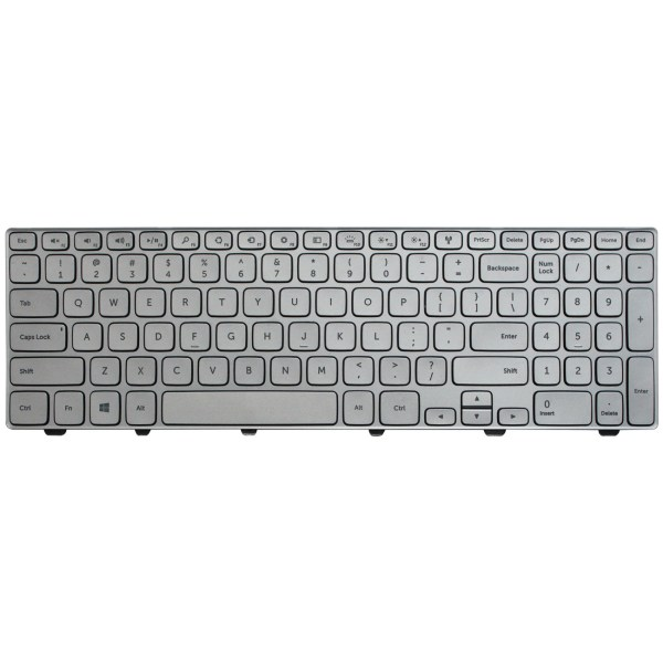 Replacement Keyboard for Dell Inspiron 15 7000 Series 7537 Laptop Silver 1