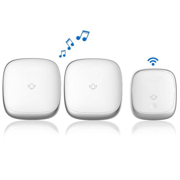 Self-Powered Wireless Doorbell Waterproof Colorful LED Flash 38 Chimes 4 Volumes 2