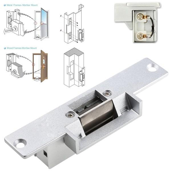 Electric Strike Door Lock for Access Control System Suitable for Wooden Door, Glass Door, Metal Door, Fireproof Door (NO-Open When Power ON) 8