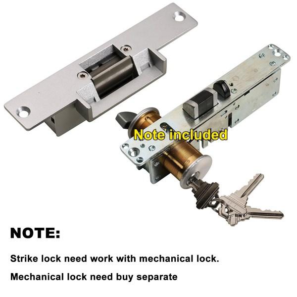 Electric Strike Door Lock for Access Control System Suitable for Wooden Door, Glass Door, Metal Door, Fireproof Door (NO-Open When Power ON) 10