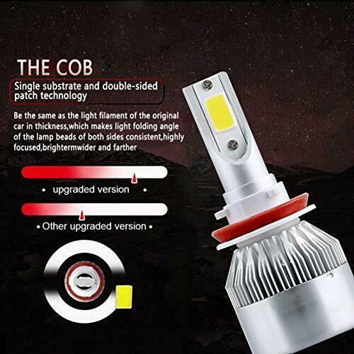 LED Car Headlight Bulbs H8 H9 H11 High Beam/Low Beam/Fog Light All-in-One Design 4