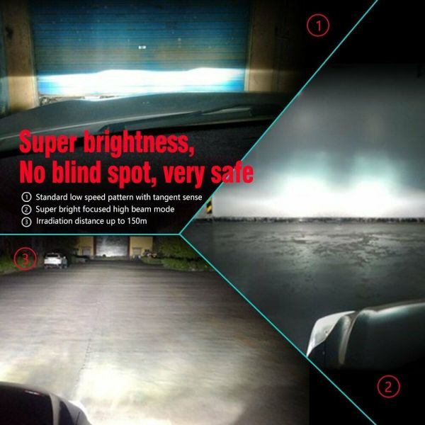 LED Car Headlight Bulbs H8 H9 H11 High Beam/Low Beam/Fog Light All-in-One Design 7