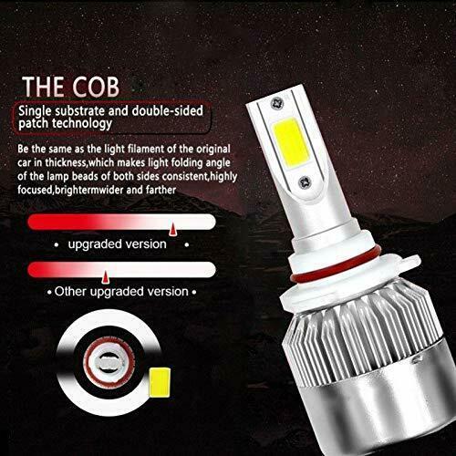 LED Car Headlight Bulbs 9006/HB4 High Beam/Low Beam/Fog Light All-in-One Design 4