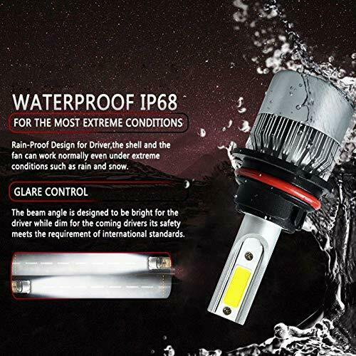 LED Car Headlight Bulb 9004/9007 26000LM 110W 6000K High Beam/Low Beam/Fog Light 3