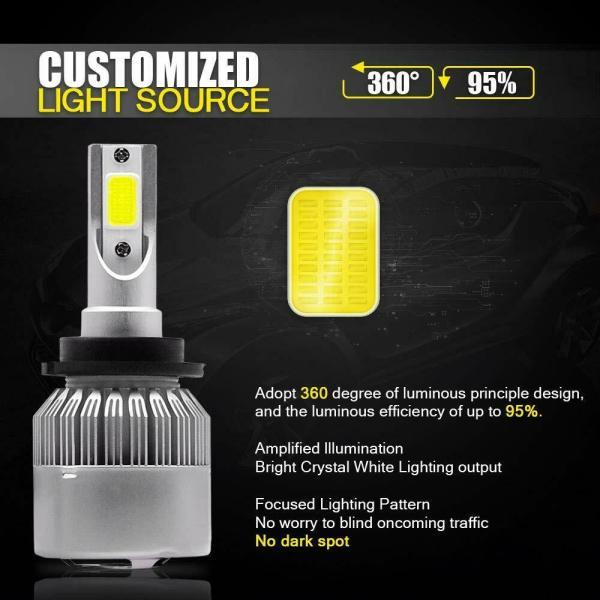 LED Headlight Bulb Conversion Kit D2S D4S 55W Car Lamp Light 6000K Pure White 3