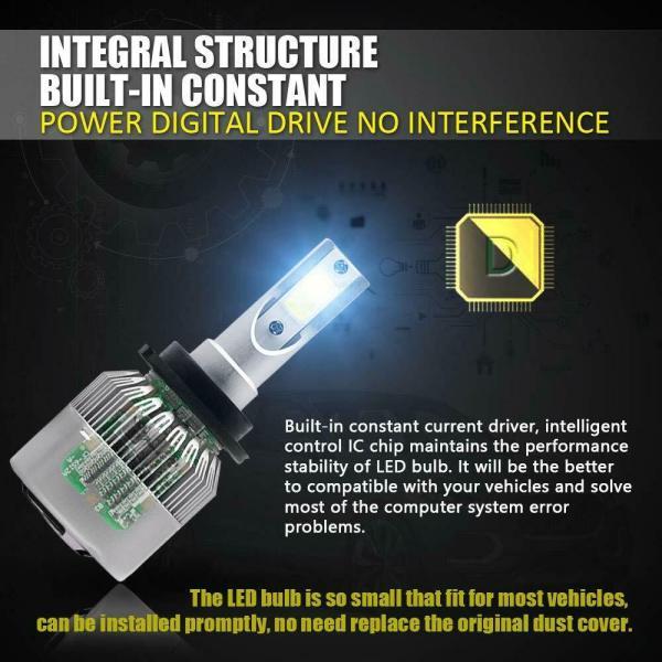 LED Headlight Bulb Conversion Kit D2S D4S 55W Car Lamp Light 6000K Pure White 5