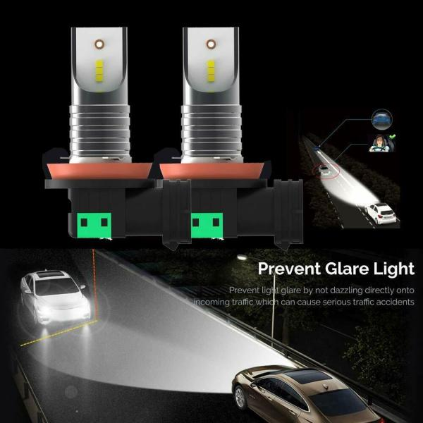 LED Headlight Conversion Kit H11 H8 H9 Plug & Play 6000K Cold White All in One 4