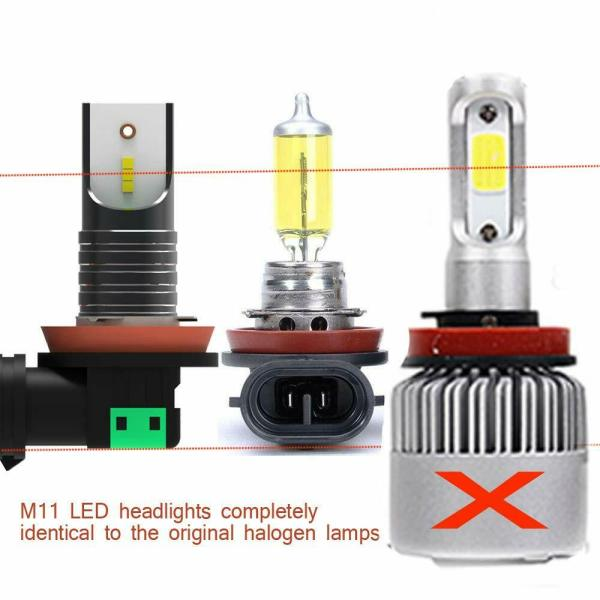 LED Headlight Conversion Kit H11 H8 H9 Plug & Play 6000K Cold White All in One 7