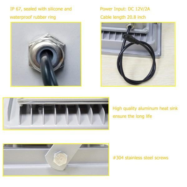 IR Illuminator 850nm 30-LED IR Infrared Light with Power Adapter for CCTV Camera (90 Degree) 6