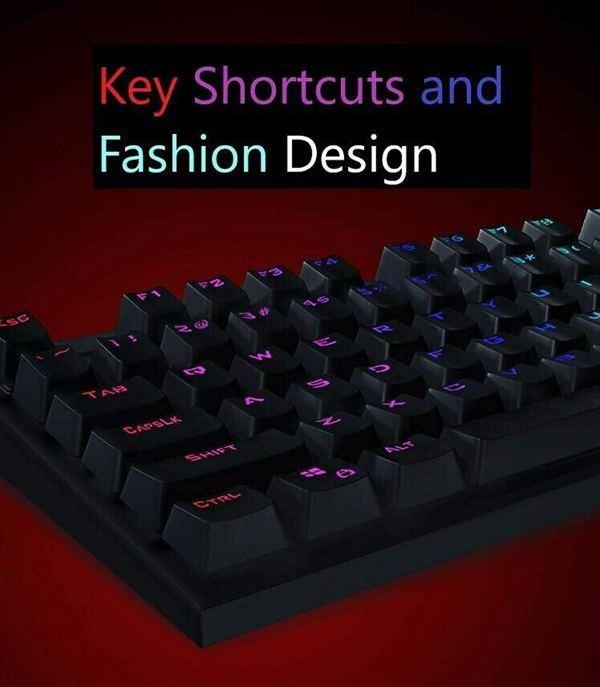 Mechanical Gaming Keyboard for Lenovo MK310 RGB Backlight USB Wired Keyboard 104 Keys Anti-ghosting Waterproof 7