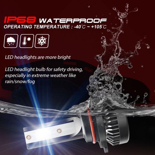 LED Headlight Bulbs Conversion Kit 9012 6000K Cold White All in One Model 2 PCS 7