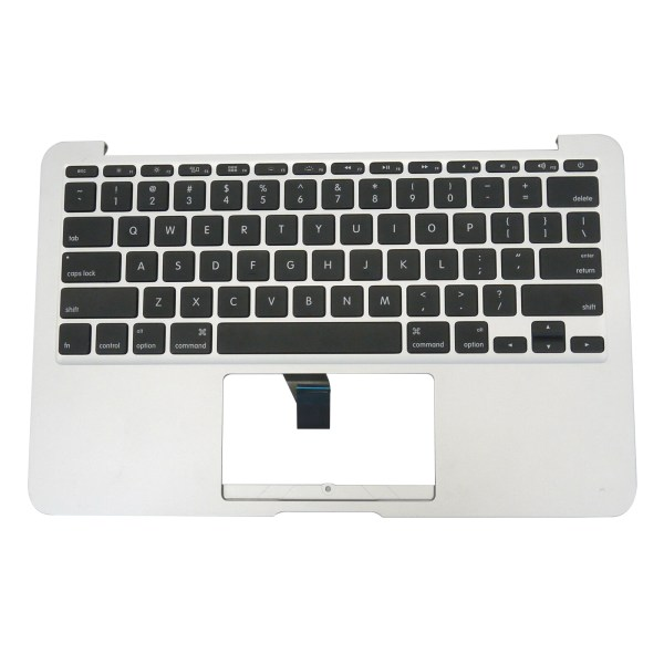 """Replacement US Keyboard Compatible for MacBook Air A1465 11"""" 2012 Year Top Case with Silver C Shell (No Trackpad) 1"""