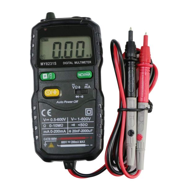 Mini Digital Multimeter,Portable Hand held Tester for Resistance Capacitance Auto Smart Detector 5