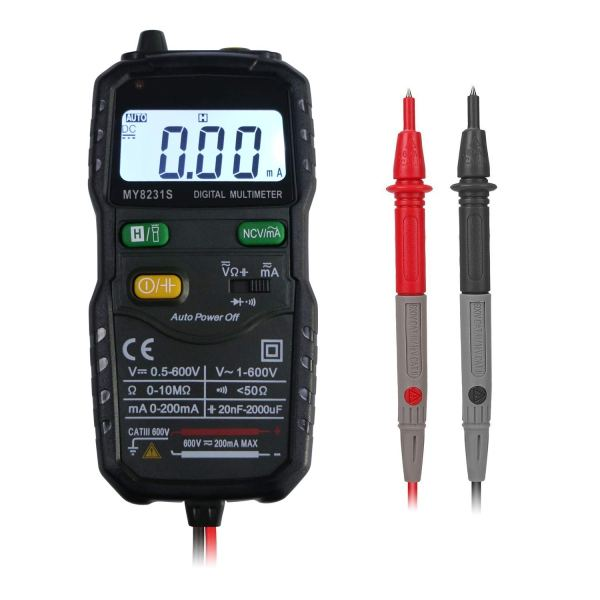 Mini Digital Multimeter,Portable Hand held Tester for Resistance Capacitance Auto Smart Detector 1