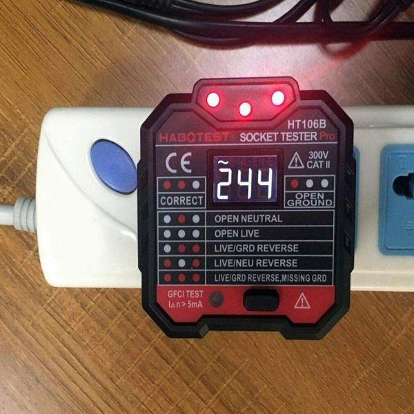 Socket Tester Plug Circuit Analyzer Power Socket Electric Circuit Polarity Voltage Detector 7