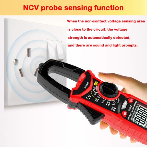 Digital Clamp Meter 6000 Counts True RMS Auto Range NCV AC / DC Current Voltage Resistance Capacitance Frequency Tester 7