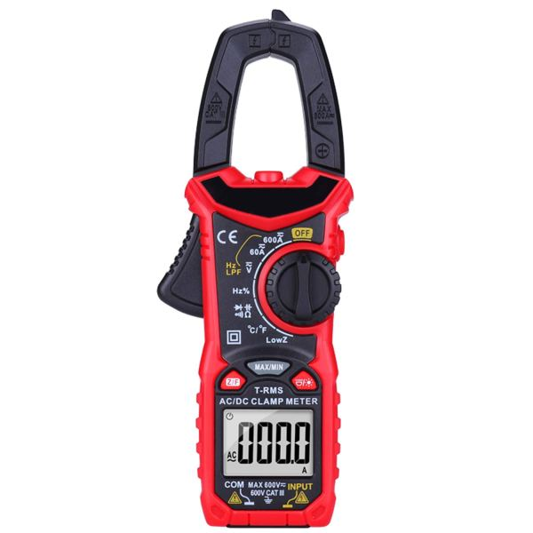 Digital Clamp Meter 6000 Counts True RMS Auto Range NCV AC / DC Current Voltage Resistance Capacitance Frequency Tester 1