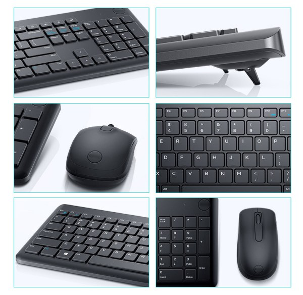 Wireless Keyboard for Dell KM117 Keyboard and Mouse Combo 2.4GHz 4